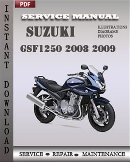 Suzuki GSF1250 2008 2009 manual