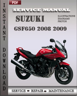 Suzuki GSF650 2008 2009 manual