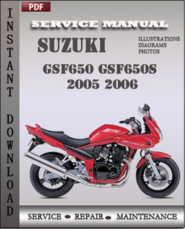 Suzuki GSF650 GSF650S 2005 2006 manual