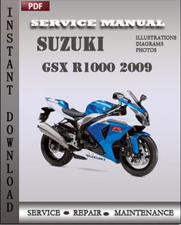Suzuki GSX R1000 2009 manual