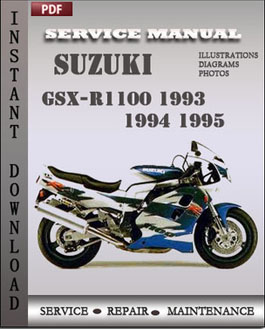 Suzuki GSX-R1100 1993 1994 1995 manual