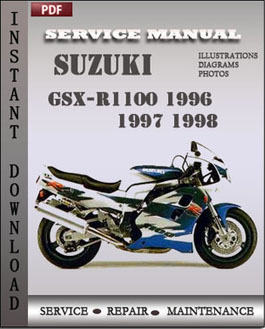 Suzuki GSX-R1100 1996 1997 1998 manual