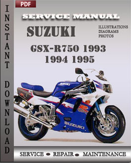 Suzuki GSX-R750 1993 1994 1995 manual