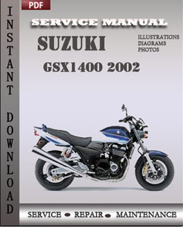 Suzuki GSX1400 2002 manual