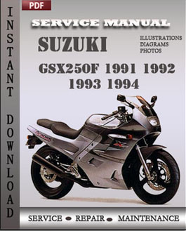 Suzuki GSX250F 1991 1992 1993 1994 manual