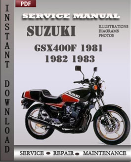Suzuki GSX400F 1981 1982 1983 manual
