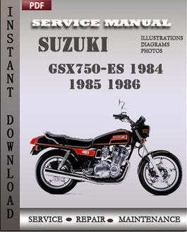 Suzuki GSX750-ES 1984 1985 1986 manual