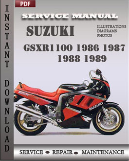 Suzuki GSXR1100 1986 1987 1988 1989 manual