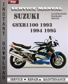 Suzuki GSXR1100 1993 1994 1995 manual