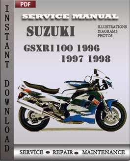 Suzuki GSXR1100 1996 1997 1998 manual