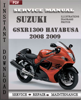 Suzuki GSXR1300 Hayabusa 2008 2009 manual