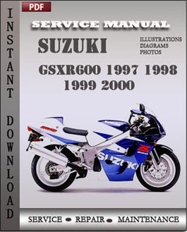 Suzuki GSXR600 1997 1998 1999 2000 manual