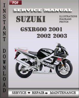 Suzuki GSXR600 2001 2002 2003 manual