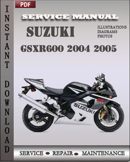 Suzuki GSXR600 2004 2005 manual