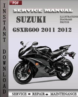Suzuki GSXR600 2011 2012 manual