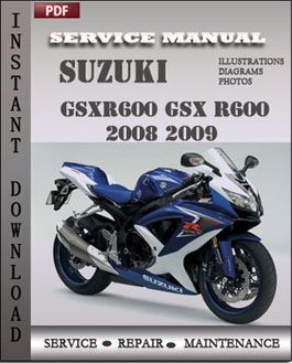 Suzuki GSXR600 GSX R600 2008 2009 manual