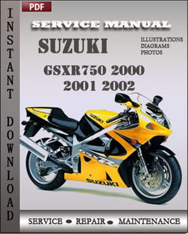 Suzuki GSXR750 2000 2001 2002 manual