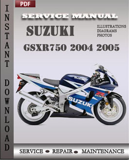 Suzuki GSXR750 2004 2005 manual