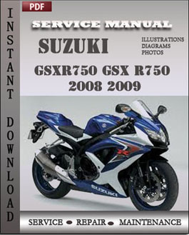 Suzuki GSXR750 GSX R750 2008 2009 manual