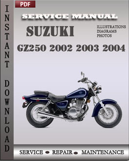Suzuki GZ250 2002 2003 2004 manual