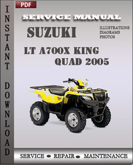 Suzuki LT A700X King Quad 2005 manual