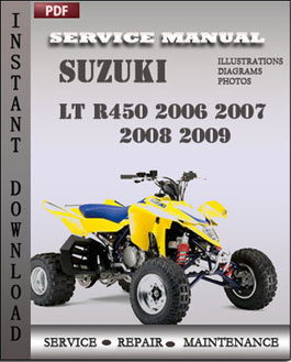 Suzuki LT R450 2006 2007 2008 2009 manual