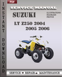 Suzuki LT Z250 2004 2005 2006 manual