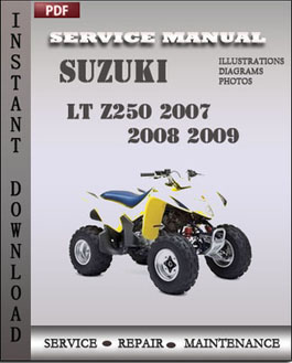 Suzuki LT Z250 2007 2008 2009 manual