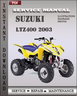 Suzuki LTZ400 2003 manual