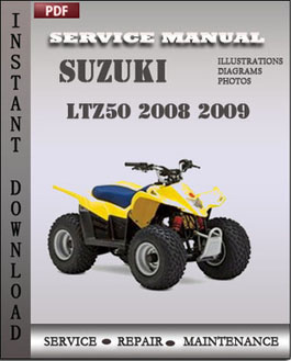 Suzuki LTZ50 2008 2009 manual