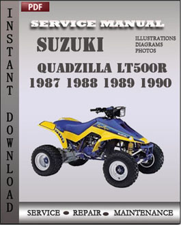 Suzuki QuadZilla LT500R 1987 1988 1989 1990 manual