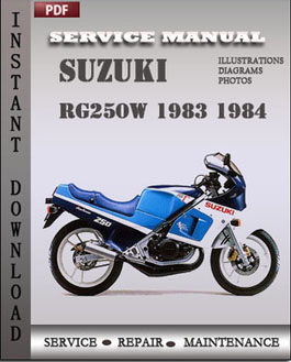Suzuki RG250W 1983 1984 manual