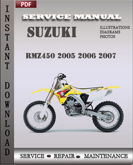 Suzuki RMZ450 2005 2006 2007 manual