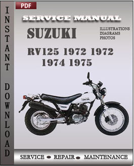 Suzuki RV125 1972 1972 1974 1975 manual