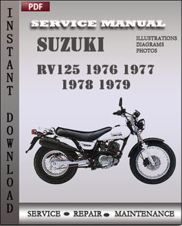 Suzuki RV125 1976 1977 1978 1979 manual