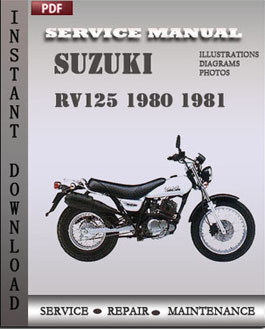 Suzuki RV125 1980 1981 manual