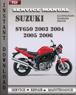 Suzuki SV650 2003 2004 2005 2006 manual