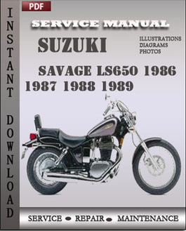 Suzuki Savage LS650 1986 1987 1988 1989 manual