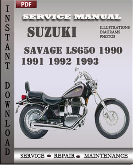 Suzuki Savage LS650 1990 1991 1992 1993 manual