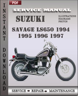 Suzuki Savage LS650 1994 1995 1996 1997 manual