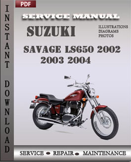 Suzuki Savage LS650 2002 2003 2004 manual