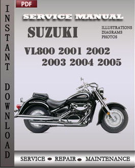 Suzuki VL800 2001 2002 2003 2004 2005 manual