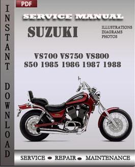 Suzuki VS700 VS750 VS800 S50 1985 1986 1987 1988 manual
