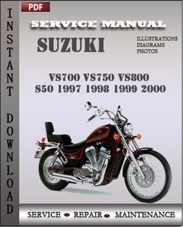 Suzuki VS700 VS750 VS800 S50 1997 1998 1999 2000 manual