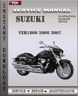 Suzuki VZR1800 2006 2007 manual