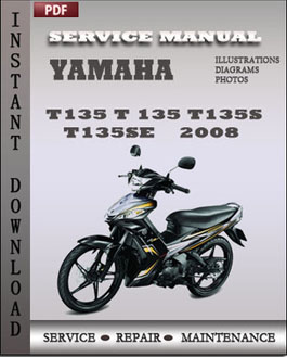 Yamaha T135 T 135 T135S T135SE 2008 manual