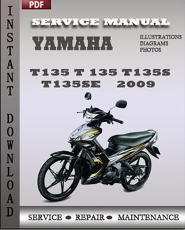 Yamaha T135 T 135 T135S T135SE 2009 manual