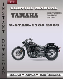 Yamaha V-Star-1100 2003 manual