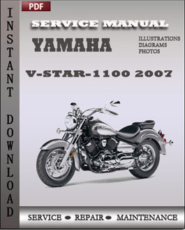 Yamaha V-Star-1100 2007 manual