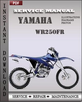 Yamaha WR250FR manual